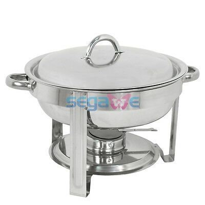 1 Pack Buffet Catering Stainless Steel Chafer Round Chafing Dish 5Qt Party Pack
