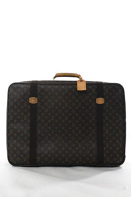 Louis Vuitton Brown Coated Canvas Monogram Sirius 70 Suitcase Luggage
