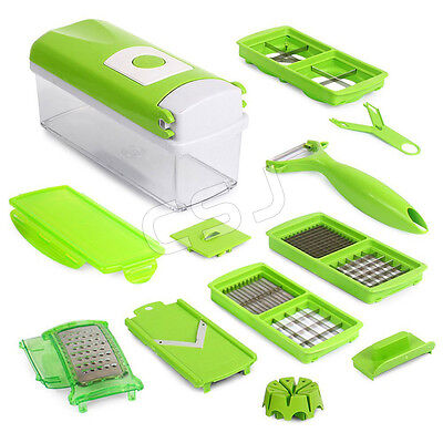 Chopping Device Food Nicer Dicer Grater with Collecting Storage Box help chef