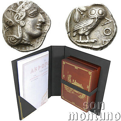 "GREECE ""Owl of Athens"" - Ancient Greek Silver Tetradrachm VF Coin Attica ATHENA"