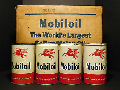 THE ULTIMATE - Case of 24x Mobiloil 1 Quart Canadian Arctic Cans (ALL 9.5-10)