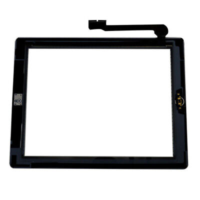 Replacement LCD Touch Screen Digitizer Assembly+Home BTN for iPad 3/4 Black
