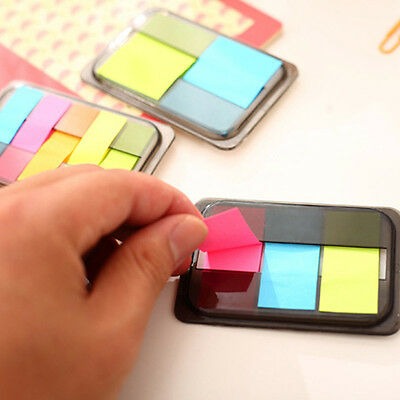 Chic Fluorescen Sticker Post Bookmark Marker Memo Flags Index Tab Sticky Notes