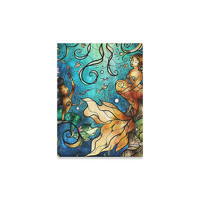 Personalized Wall Art Beautiful Mermaid Under Water World Canvas Print 12X16 IN