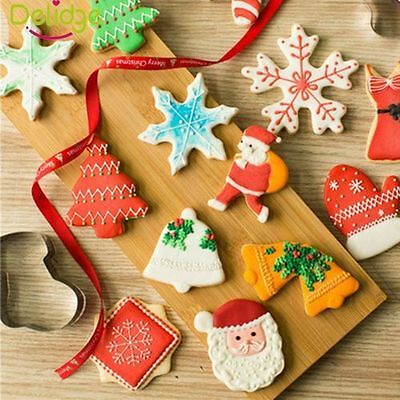 Christmas Baking Steel Sugar Cake Biscuit Cookie Cutter Mold Mould DIY Tool