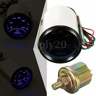 2'' 52mm Auto LED Manometro Pressione turbo Olio Indicatore con sensore Racing