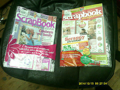 scrapbook mag issue 20 free cd & paper/scrapbook inspirations iss 11 free flower