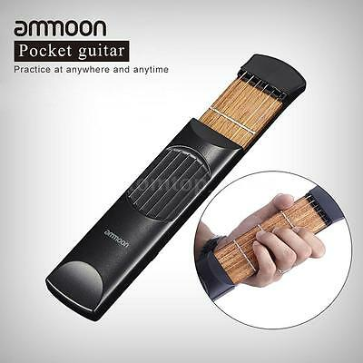 ammoon Portable Pocket Acoustic Guitar Practice Tool Gadget Chord Trainer Q2E6