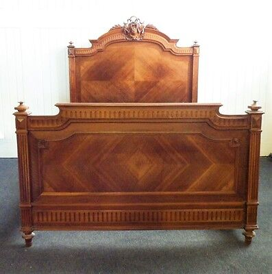 BEAUTIFUL Antique carved french double bed