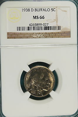 1938-D NGC MS66 Buffalo Nickel!! #B2305