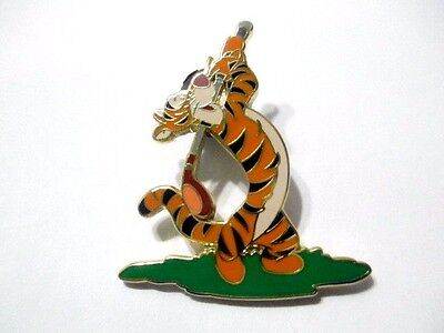 Vintage Disney Pin Enamel Figural Tigger Playing Golf Colorful Lapel Style Htf