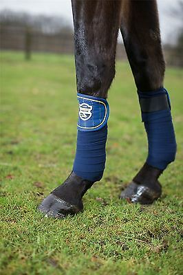 HKM Polar Fleece Bandages -Flash- Horse riding leg wraps travel protection 7850