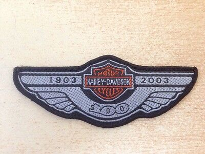 Écusson patch harley 100 anniversaire ailes wings