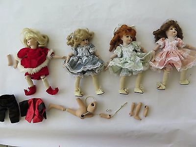 Lot of French Reproduction Antique Dolls Bru Jne Simon Halbig A.Marque Kstar