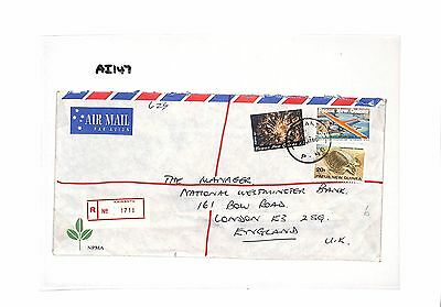AI 147 1986 Papa New Guinea London GB Cover