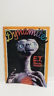 Vintage Dynamite E.t. The Extra Terrestrial Meet The Creature Magazine 1982
