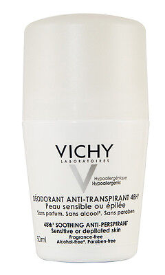 Vichy 48Hr Soothing Anti-Perspirant 50ml Roll On  GENUINE & NEW