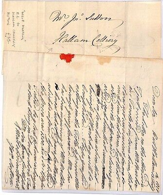 HL458 1779 GB COAL MINING DERBYS West Hallam to Hallam Colliery Historic Letter