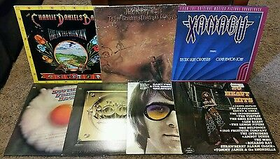 7 Classic Rock LP Lot - Moody Blues Gary Puckett ELO - All VG+ to NM