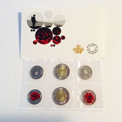 """2015 100th ANNIVERSARY OF """"IN FLANDERS FIELDS"""" COIN SET"""