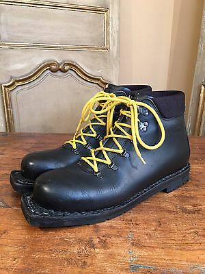 Vintage Alico 3 Pin Cross Country Ski Mountaineering Boots Mens 12 Rtl $270