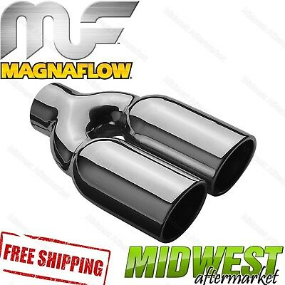 """35168 Magnaflow Exhaust Tip Dual Single Wall 2.25"""" Inlet 3"""" Outlet 10"""" Long"""