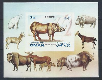 OMAN 1972 Wild Animals Rhinoceros Imperf Mini Sheet Mint MNh C#010