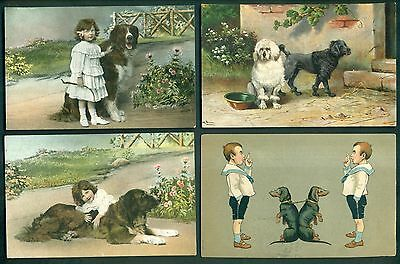 Early 1900's Dog Postcards Group of 18