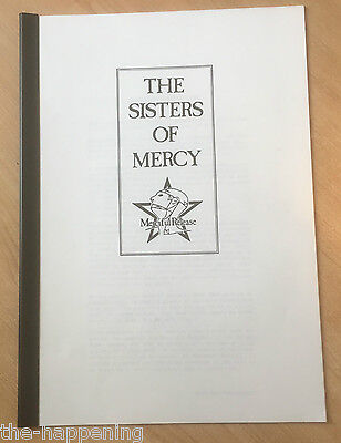 SISTERS OF MERCY Merciful Release A4 14 page Info Pack 1985