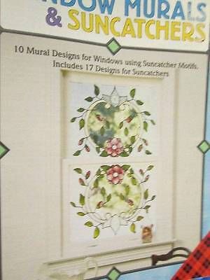Window Murals & Suncatchers Stained Glass Craft Book-Shells/Fish/Chilies/Irises/
