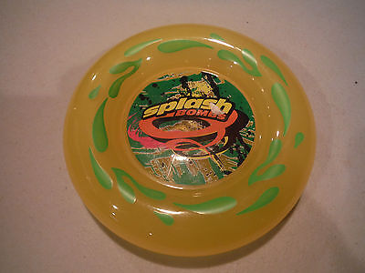 NEW SPLASH BOMBS Yellow Frisbee-Like Pool Swimming Toy - 5.5""