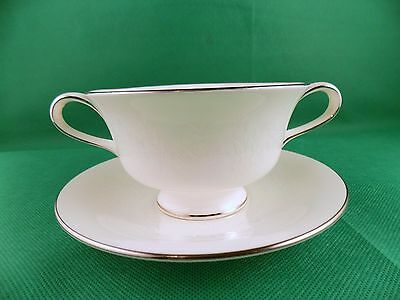 Wedgwood Silver Ermine Soup Cup + underplate