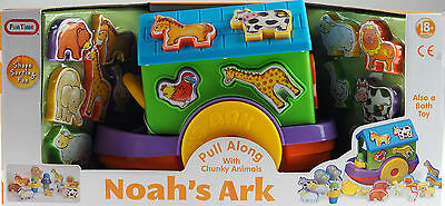 Noah's Ark Pull Along Baby Shape Sorter Toy - Also A Bath Toy 18m+