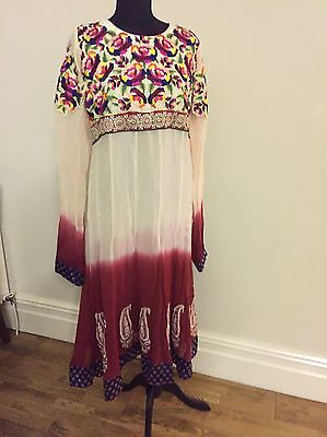 Indian Pakistani Style Frock Dress Kameez