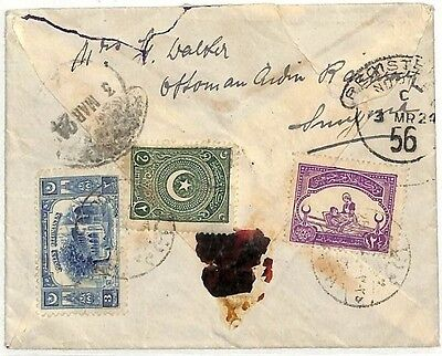 AC6 1924 TURKEY Registered Mail GB Clapham Common London Cover