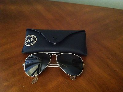 Ray Ban B&L Aviator Sun Glasses in Case  Vintage