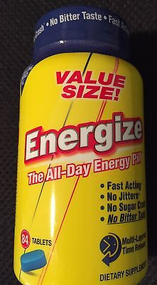 ISATORI, ENERGIZE. The All Day Energy Pill. 84 tablets. ALL ENERGY NO CRASH!