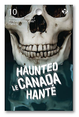 Haunted Canada 2016 Permanent Stamps Booklet Of 10 Mnh Halloween Ghosts Scary