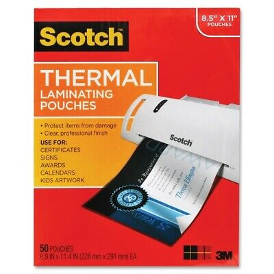 3M Scotch Thermal Laminating Pouches, Letter Size - 50 Pack