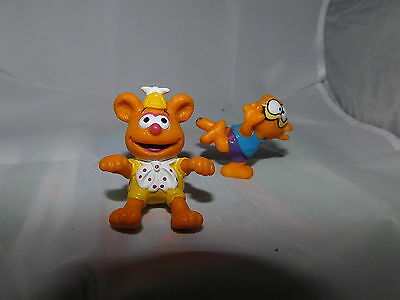 Lot Vintage Garfield Muppet Babies Fozzie Happy Meal Toys