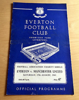 CHARITY SHIELD 1963 Everton v Manchester United August 17th, 1963