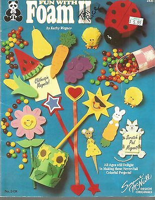 Fun with Foam Patterns Kids Crafts Pencil Toppers Magnets Bookmark Doorsigns A91