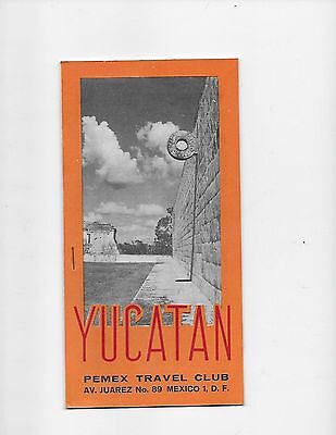 1962 Mexico Travel Brochure Pemex Travel Club Yucatan