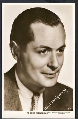 a963     Robert Montgomery .   Movie Actor .  MGM  Pictures .   Real Photo.