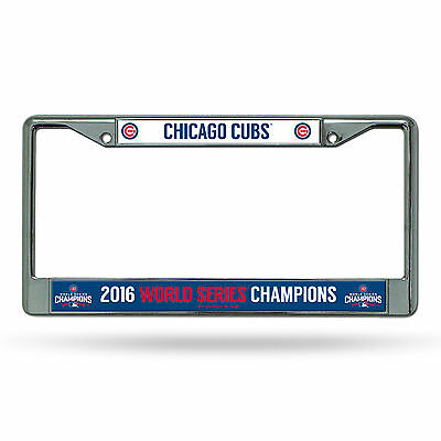 Chicago Cubs 2016 World Series Champions Metal Chrome License Plate Frame MLB
