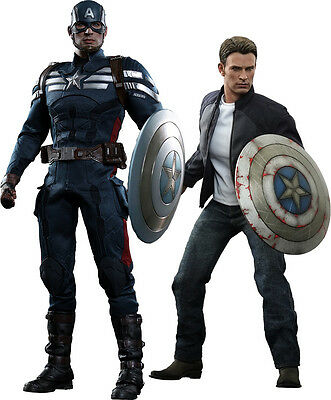 CAPTAIN AMERICA 2 - Captain & Steve Rogers 1/6th Scale Figure Set (Hot Toys)