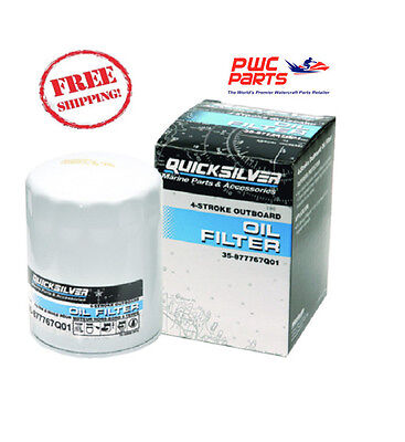 QUICKSILVER Mercury Oil Filter 135/150/175/200HP Verado In-Line OEM 877767Q01