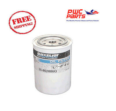 QUICKSILVER Mercury Oil Filter MerCruiser inboard Ford base engines OEM 802886Q