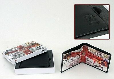 England Rugby Union Official Retro Design Leather Wallet In Gift Box - New RFU