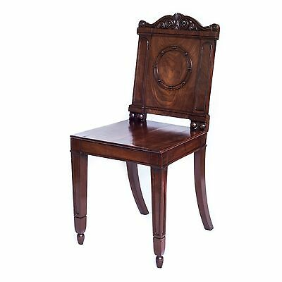 Fine Antique George III / Regency Hall Chair, After Thomas Hope, c. 1805